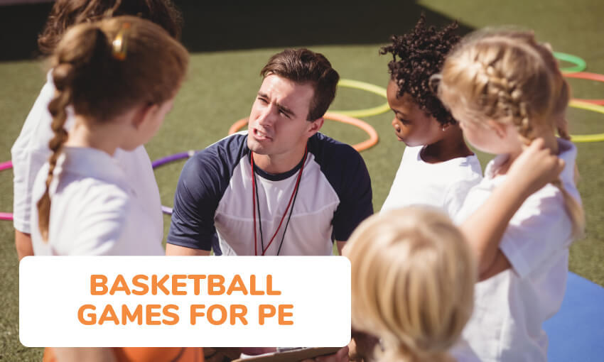 A collection of basketball games for PE class.