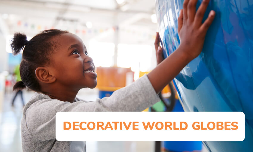 decorative world globes