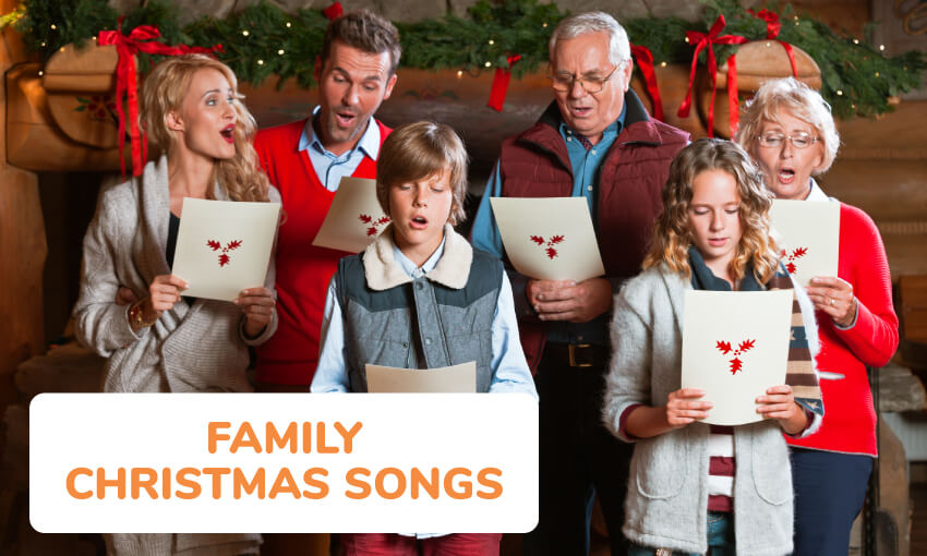 A collection of family Christmas songs to sing.