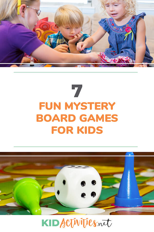 A collection of fun mystery board games for kids.