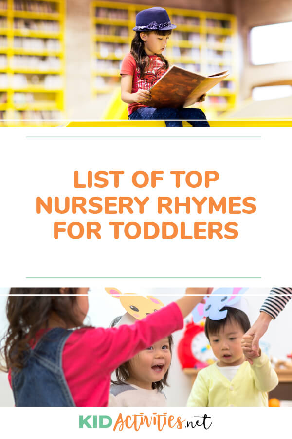 List of top nursery rhymes for toddlers