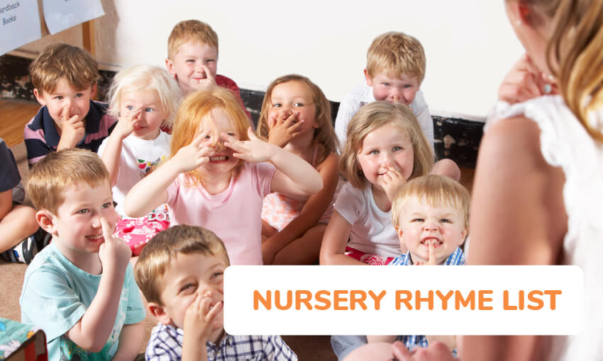 List of nursery rhyme songs