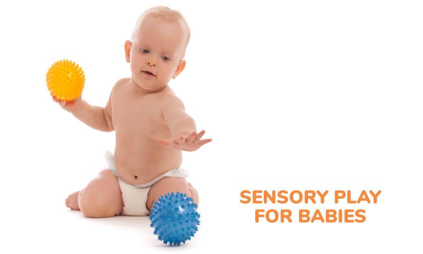 感官玩的婴儿的想法。