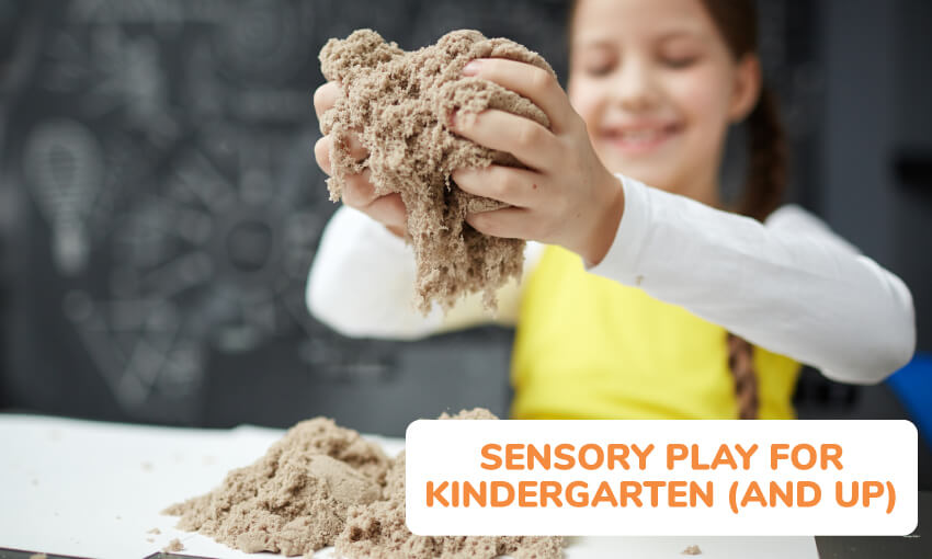 Sensory play ideas for kindergarten.