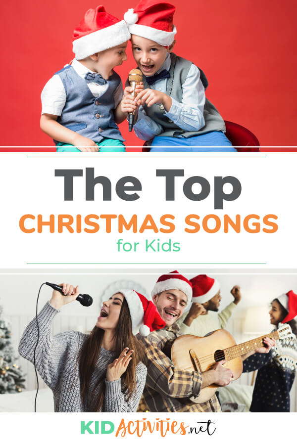 The top Christmas songs for kids.