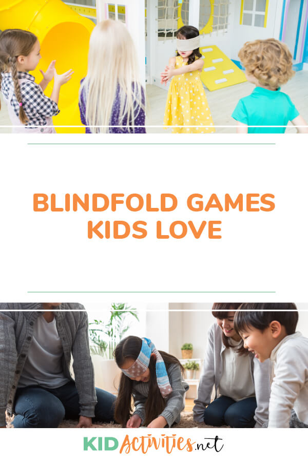 A collection of fun blindfold games kids love.