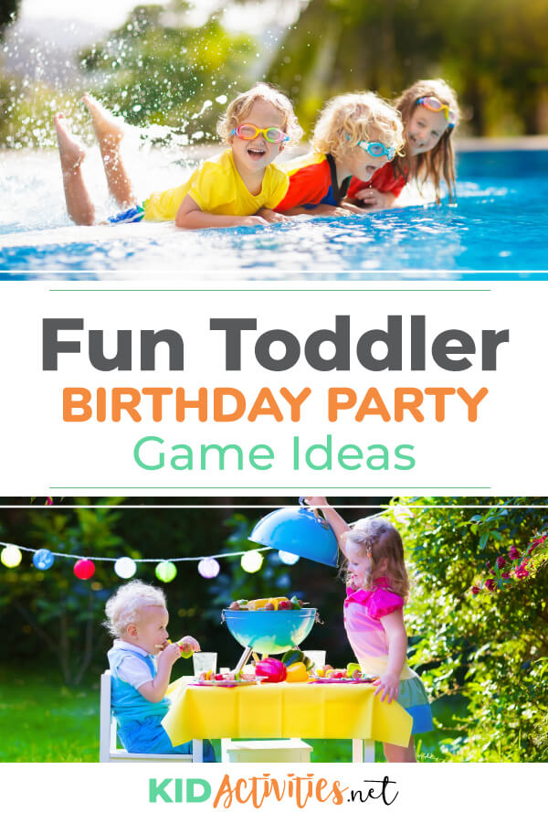 A collection of fun toddler birthday party game ideas.