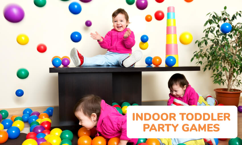 A collection of indoor toddler party game ideas.
