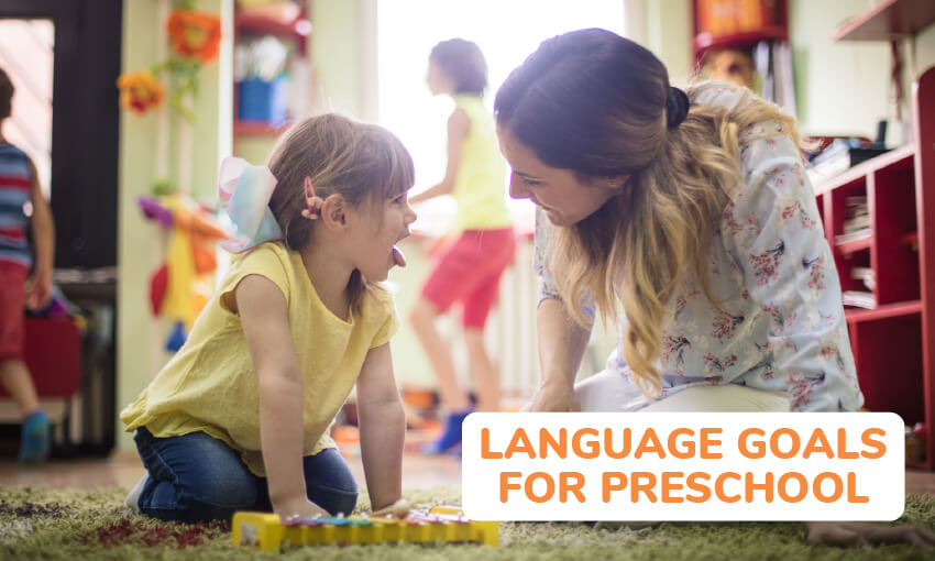 language goals for preschoolers