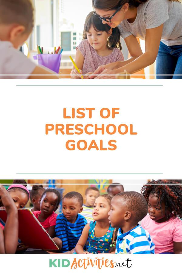 Preschool goals list