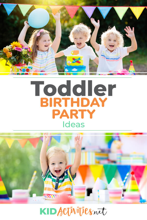 A collection of toddler birthday party games.