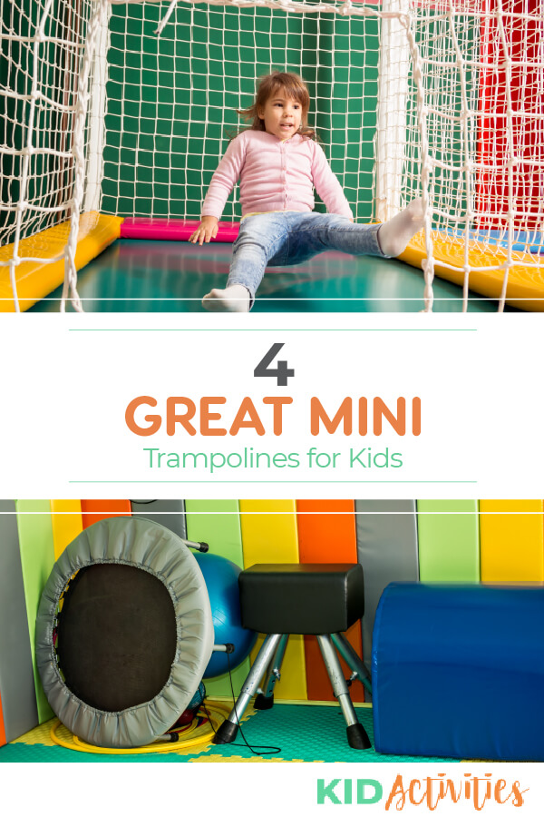 A list of 4 indoor mini trampolines for kids.