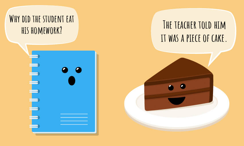 "A food joke ""Why did the student eat his homework?"""