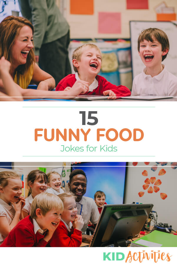 A collection of funny food jokes for kids.
