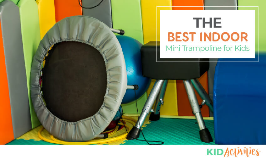 A collection of indoor mini trampolines for kids