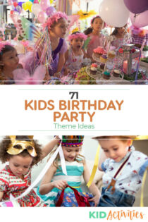 A list of kids birthday party ideas.