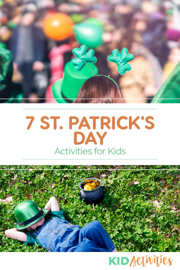 A collection of 7 fun St Patrick's Day activities for kids. Great ideas for the classroom and other St Patrick's Day celebrations.