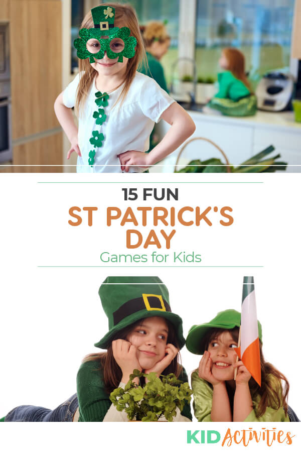 15 fun St Patrick's Day games for kids! Great for at home or in the classroom. Gather a group of kids and let the fun begin.