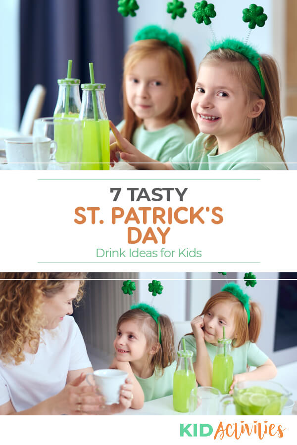 A collection of 7 tasty St Patrick's Day drinks for kids. Great for St Patrick's Day parties in the classroom.