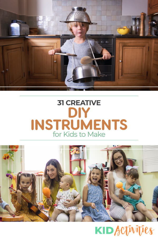 A collection of DIY instrument ideas. Turn ordinary items into an orchestra.