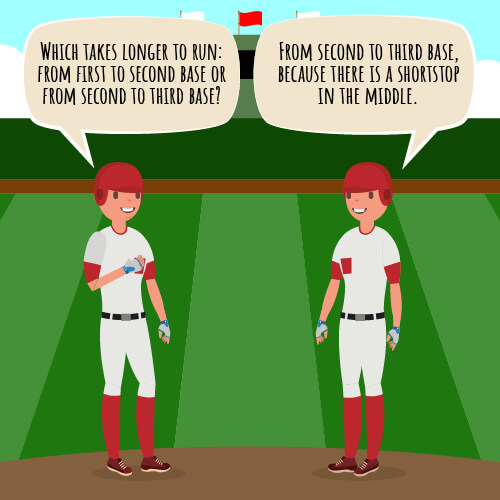 Shortstop baseball joke.