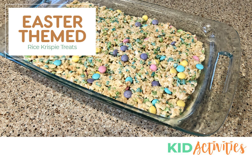Easter themed rice krispies.