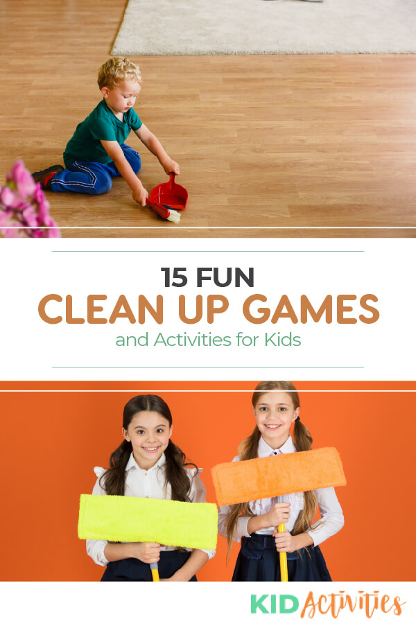 A collection of clean up games and activities for young kids. Great for teaching kids to pick up in the classroom or around the house.