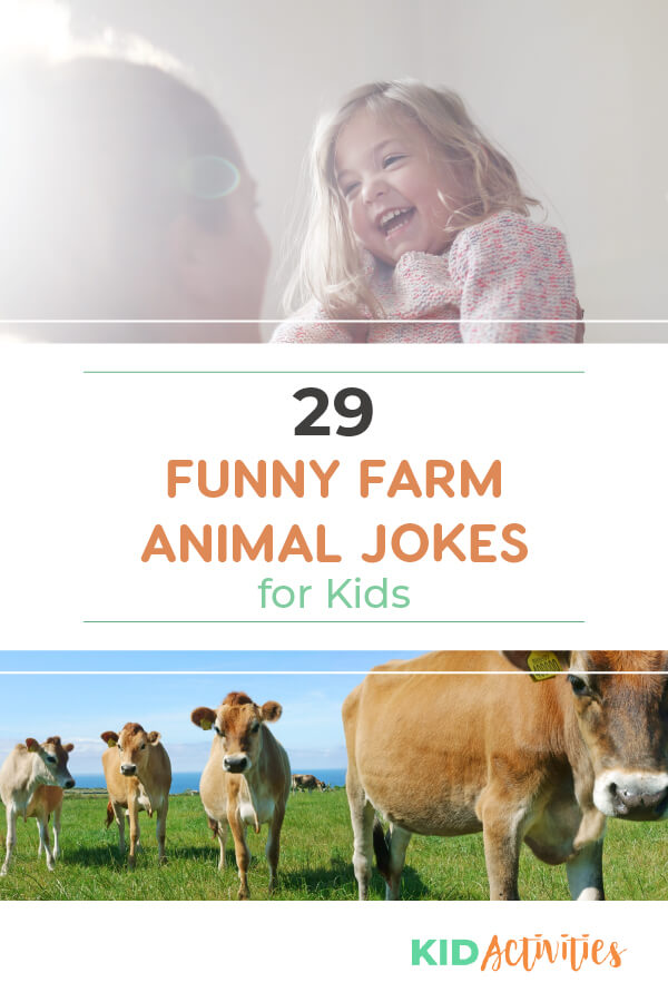 A collection of 29 funny farm animal jokes for kids. Appropriate for kids of all ages.