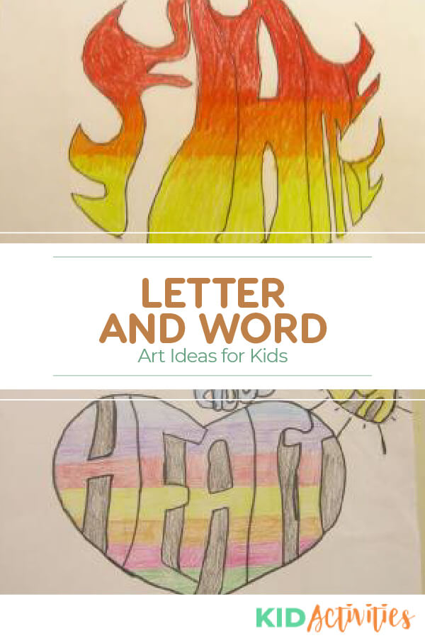 A collection of letter and word art ideas for kids. A fun classroom project.