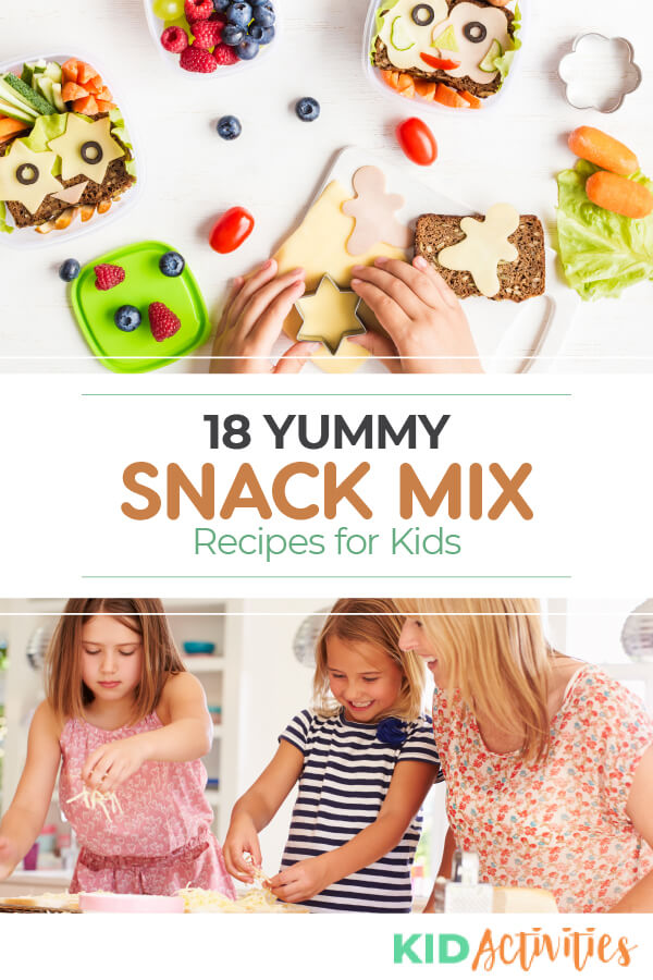 A collection of 18 snack recipes to make with or for kids.