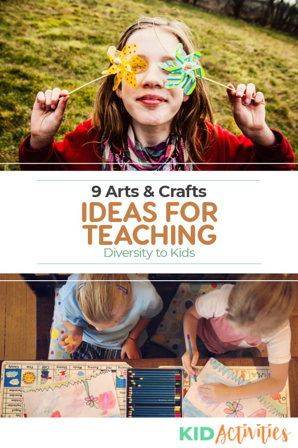 Your kids will find these arts and crafts not only fun but insightful. These ideas are a great way to help teach kids about the importance of diversity.
