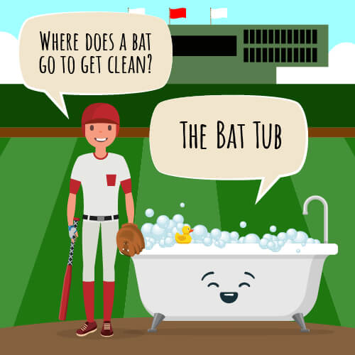 Where does a bat go to et clean joke.