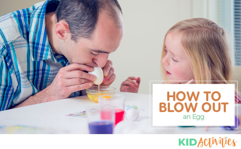 3 methods for blowing out an egg.
