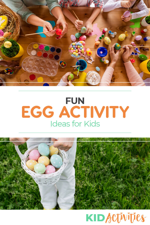 A collection of fun activity ideas for kids including egg games and egg race ideas.