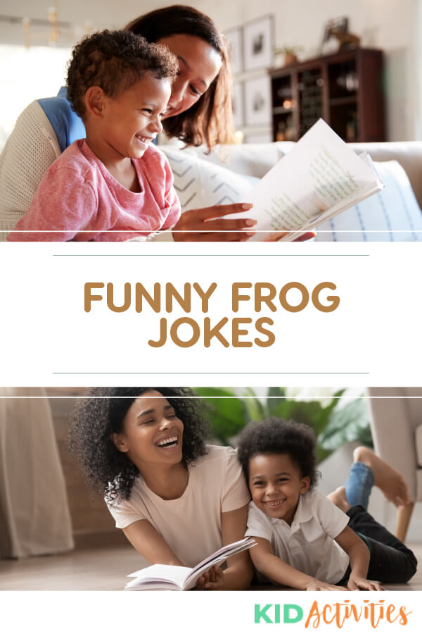 A collection of funny frog jokes for kids.