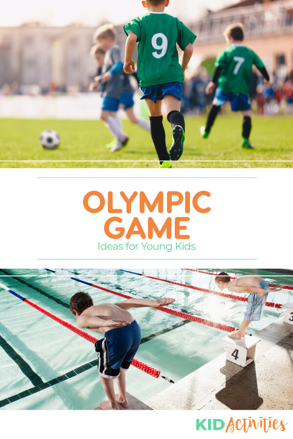 A collection of Olympic game ideas for young kids. Great for an Olympic theme day at school.