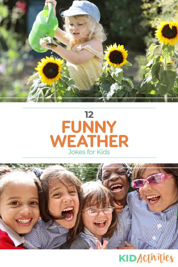 孩子们的有趣天气笑话的集合。